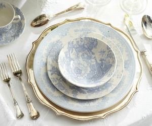 blue, plate, and porcelain image
