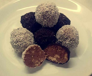 biscuits, chocolate, and coconut image