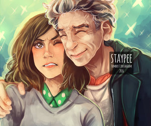doctor who, clara oswald, and 12th doctor image
