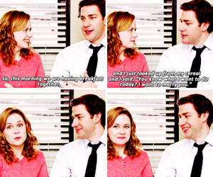 jim halpert, pam beesly, and quotes image