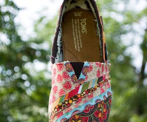 toms, shoes, and colorful image