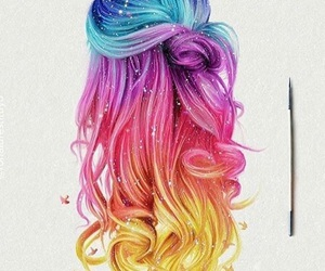 hair, colors, and drawing image
