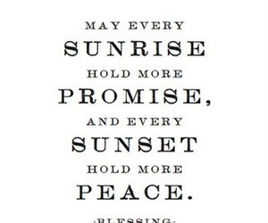 quote, peace, and sunrise image