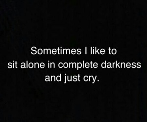 alone, dark, and cry image