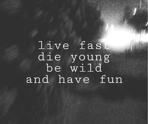 black, quotes, and born to die image