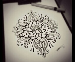 dibujo, mandala, and tatoo image