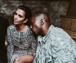 kim kardashian, kanye west, and met gala image