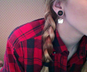 braids, flannel, and gauges image