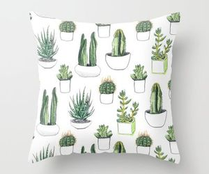 pillow, cactus, and green image