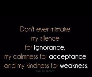 quote, weakness, and silence image