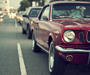 car, red, and mustang image