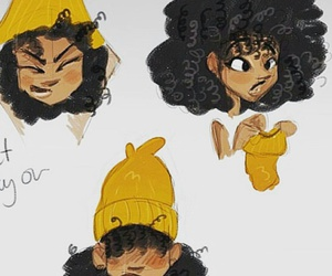 beanie, to, and curly hair problems image