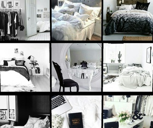 bed, bedroom, and fancy image