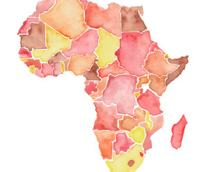 africa, art, and watercolour image