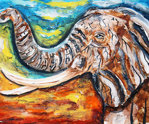 africa, african art, and african elephant image