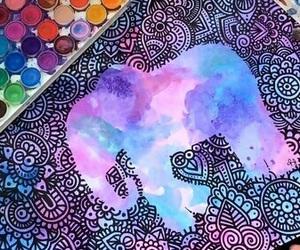 art, elephant, and mandalas image