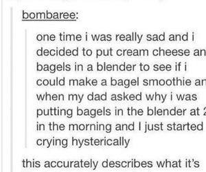 bagels, funny, and periods image