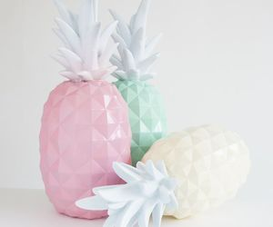 pineapple, pastel, and pink image