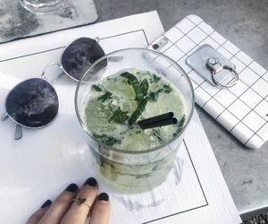 drink, glasses, and green image