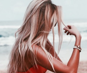 beach, blonde, and goals image