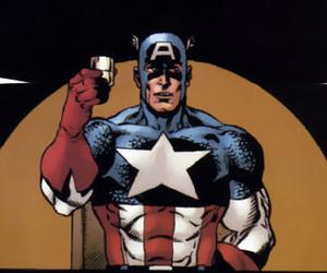 captain america, comics, and hawkeye image