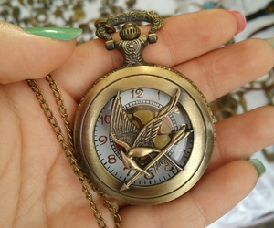 accessories, clock, and katniss image