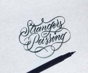 calligraphy, ex, and lettering image