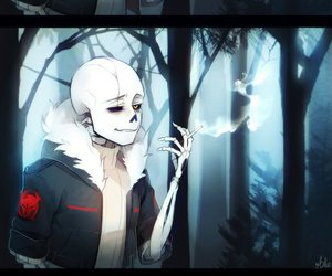 boy, sans, and smoking image