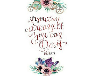 caligraphy, disney, and flowers image
