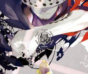 one piece, trafalgar law, and anime image