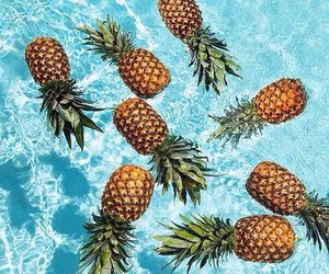 pineapple, summer, and water image