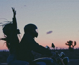 couple, ariana grande, and sunset image