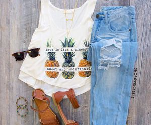 outfit, pineapple, and summer image