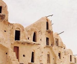 building, desert, and architecture image