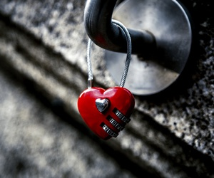 lock, heart, and red image