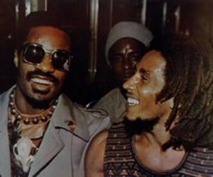 bob marley and stevie wonder image