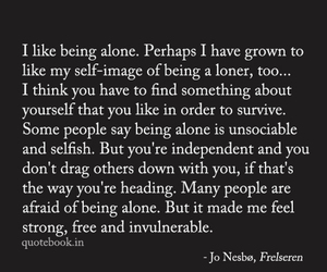 alone, introvert, and lonliness image