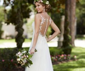 dress, wedding, and wawes image