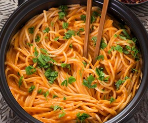 food, pasta, and dinner image