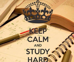 study, keep calm, and school image