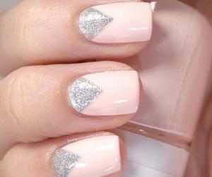 nails, nailart, and pink image