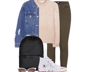 chloe, clothes, and converse image