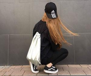black, adidas, and fashion image