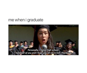 funny, girl, and graduation image