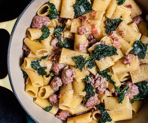bacon, kale, and pasta image