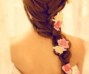 braids and flowers image