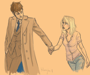 doctor who, rose tyler, and the doctor image
