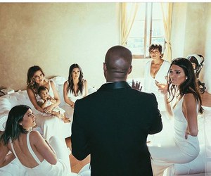 kanye west, wedding, and kardashian image