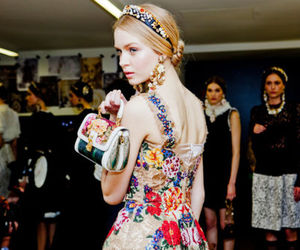 bag, clutch, and floral image