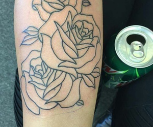 best friend, roses, and tattoo image